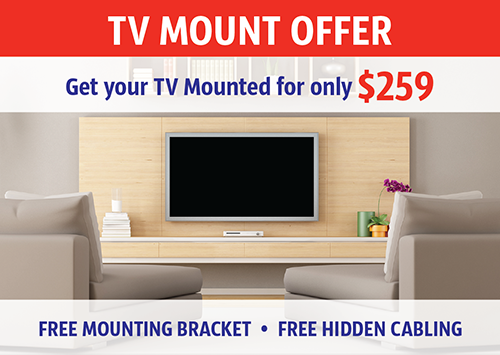 tv wall mount installation Melbourne western suburbs